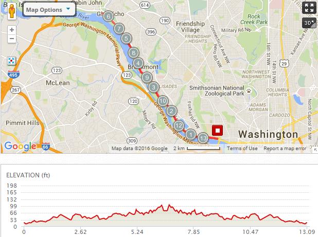 Georgetown Half Marathon Course Map Bishops Events LLC